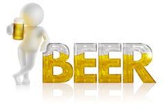 Uomo con birra Fotografia Stock Libera da Diritti