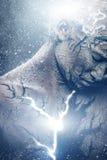 Uomo con body art spirituale immagine stock libera da diritti