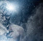 Uomo con body art spirituale Fotografie Stock Libere da Diritti