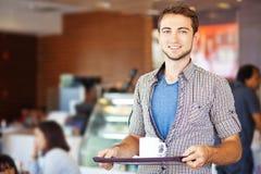 Uomo con caffè Immagini Stock