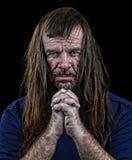 Uomo con capelli lunghi Fotografia Stock