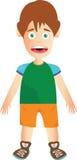 Uomo con capelli marroni Immagini Stock