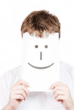 Uomo con con un sorriso felice immagine stock libera da diritti