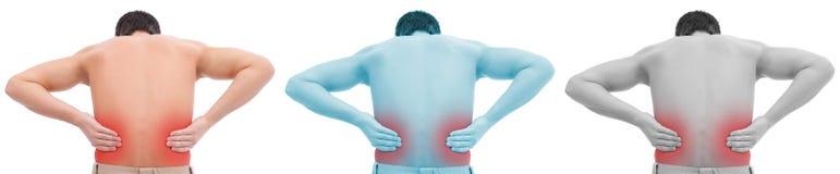 Uomo con dolore alla schiena illustrazione di stock