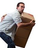 Uomo con dolore alla schiena Fotografia Stock Libera da Diritti