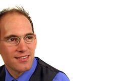 Uomo con gli occhiali Fotografie Stock
