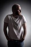 Uomo con Gray Hair Fotografie Stock