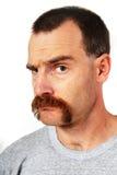 Uomo con i baffi Fotografia Stock Libera da Diritti