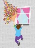 Uomo con i fiori Immagini Stock Libere da Diritti