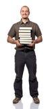 Uomo con i libri Immagini Stock
