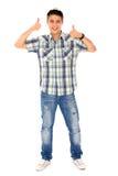 Uomo con i pollici in su Fotografie Stock Libere da Diritti