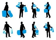 Uomo con i sacchetti Immagini Stock Libere da Diritti