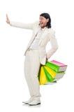Uomo con i sacchetti di acquisto Immagini Stock Libere da Diritti