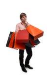Uomo con i sacchetti di acquisto Immagini Stock