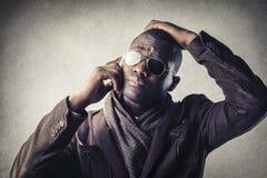 Uomo con i vetri Immagini Stock Libere da Diritti