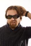 Uomo con i vetri 3D Immagine Stock