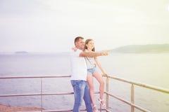 Uomo con il bambino Fotografia Stock