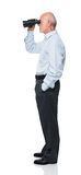 Uomo con il binocolo Immagini Stock Libere da Diritti