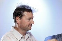 Uomo con il cappello dell'acqua Immagini Stock Libere da Diritti