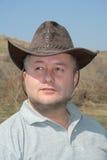 Uomo con il cappello di cowboy Fotografia Stock Libera da Diritti