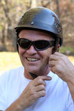 Uomo con il casco Immagine Stock Libera da Diritti