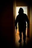 Uomo con il coltello fotografie stock libere da diritti