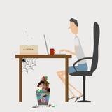 Uomo con il computer Immagini Stock