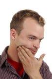 Uomo con il dolore del dente Fotografie Stock Libere da Diritti