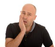 Uomo con il dolore del dente fotografia stock libera da diritti