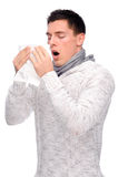 Uomo con il fazzoletto Fotografia Stock