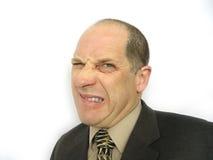 Uomo con il fronte arrabbiato immagine stock libera da diritti