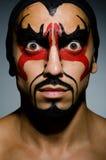 Uomo con il fronte coperto Fotografia Stock Libera da Diritti
