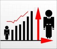 Uomo con il grafico Immagine Stock