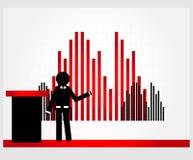 Uomo con il grafico Immagini Stock