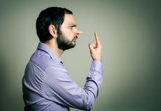 Uomo con il grande naso Fotografie Stock