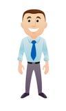 Uomo con il legame blu Immagini Stock