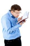 Uomo con il libro Immagine Stock Libera da Diritti