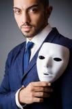 Uomo con il nero Fotografia Stock Libera da Diritti