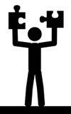 Uomo con il puzzle Fotografie Stock Libere da Diritti