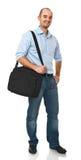 Uomo con il sacchetto Immagine Stock Libera da Diritti
