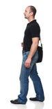 Uomo con il sacchetto Fotografie Stock Libere da Diritti