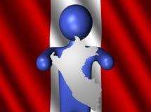 Uomo con il segno del programma del Perù Immagine Stock Libera da Diritti