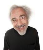 Uomo con il sorriso pazzesco Fotografie Stock
