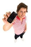 Uomo con il telefono delle cellule Immagini Stock Libere da Diritti