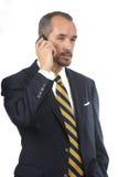 Uomo con il telefono mobile Fotografia Stock