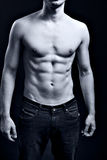 Uomo con l'ABS strappato muscolare Fotografia Stock