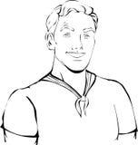 Uomo con l'acconciatura in maglietta Immagini Stock Libere da Diritti