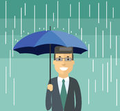 Uomo con l'ombrello Fotografia Stock Libera da Diritti