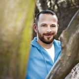 Uomo con la barba Fotografia Stock