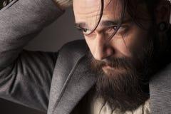 Uomo con la barba Fotografia Stock Libera da Diritti